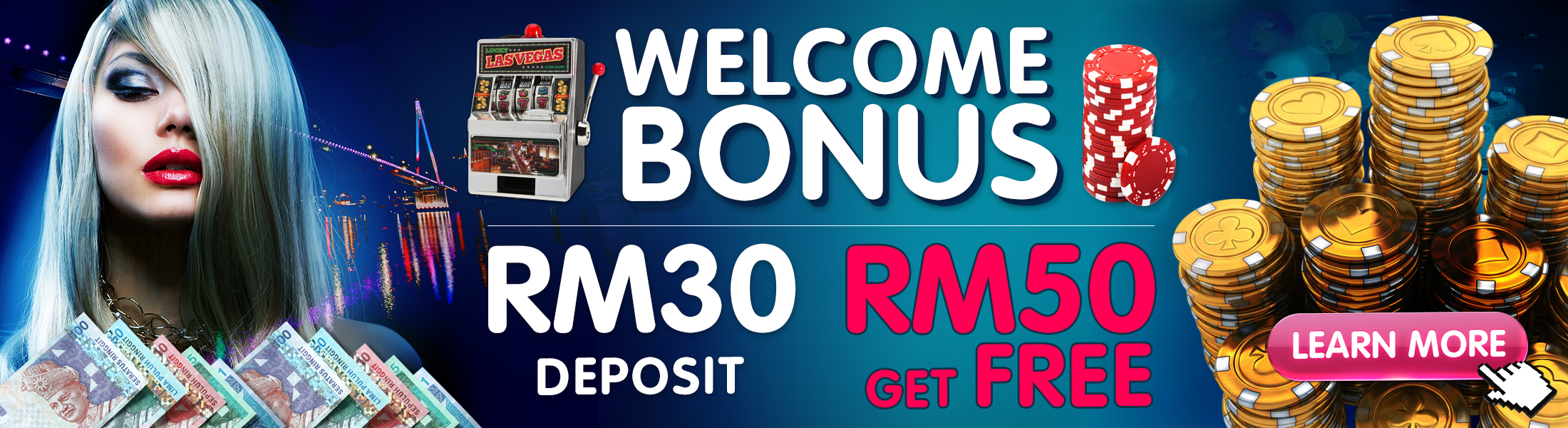 Deposit 30 Free 50 Promotion SKY3888 Top Up Bonus!