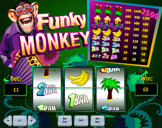 No Download Required to Try Funky Monkey Slots