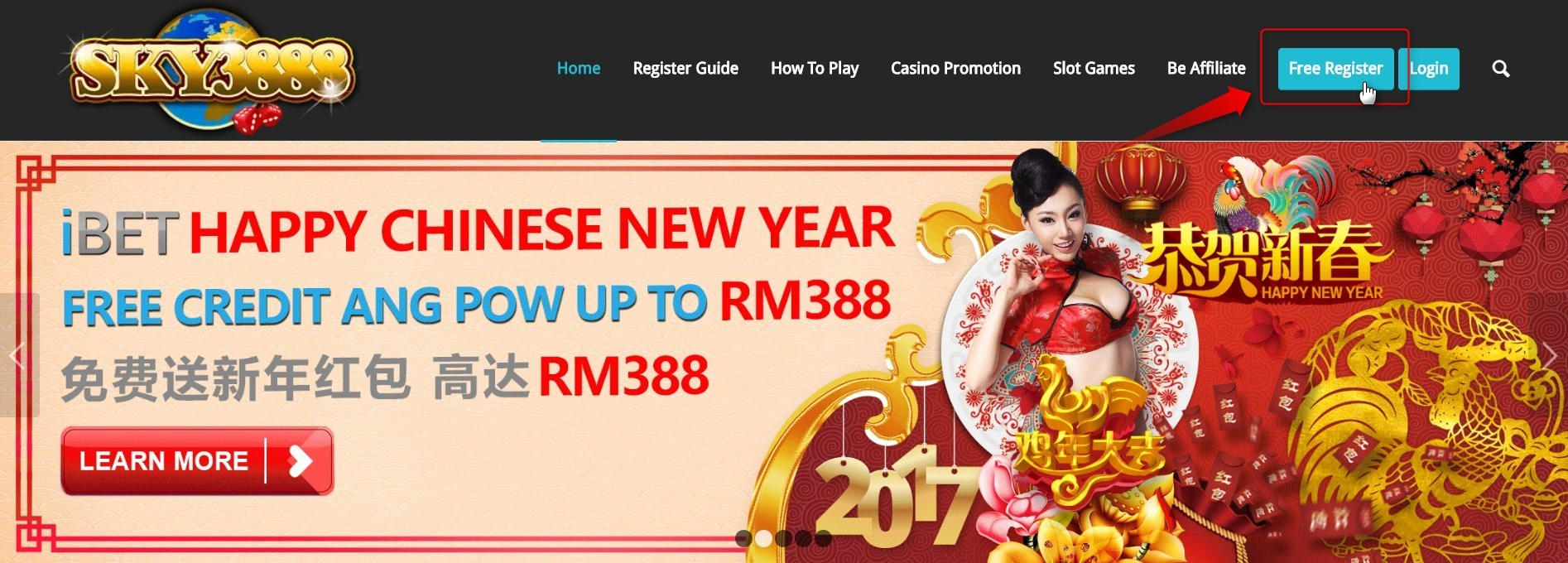 Free Register iBET sky3888a Top Up and Get More Bonus!