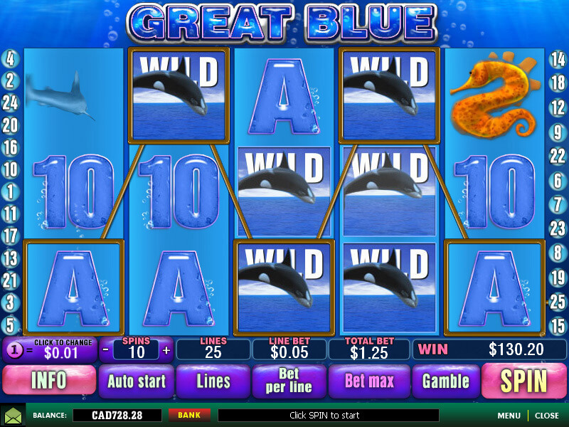 Deep Blue Slot Machine - Play this Game by Viaden Online