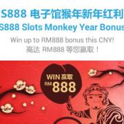 sky3888 S888 Slot Game Golden Monkey Bonus WIN MYR888 in iBET!