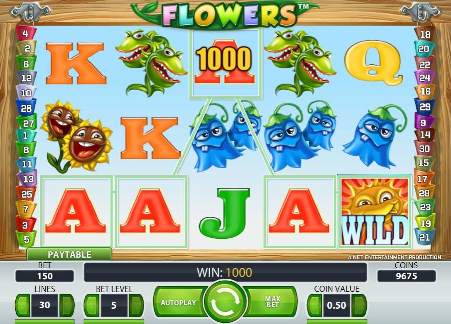 Flower slot game