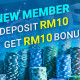 sky3888 Welcome Bonus Lowest Deposit RM10 Get Free RM10!