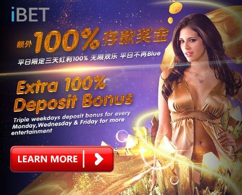 SKY3888 Recommend iBET Extra 100% Deposit Bonus-2